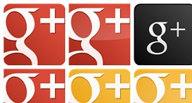Red Google Plus Vector Icons