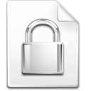 File, Lock, Password, Secure Icon