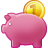 Bank, Cash, Money, Piggy, Savings Icon