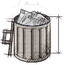 Bin, Full, Garbage, Recycle, Trash Icon