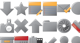 Super Simple Grey Series Icons