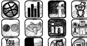 Sketchy Social Media Icons