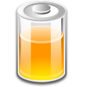 Battery, Orange Icon