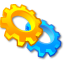 Exe, Execute, Gears, Package, Settings, System, Utilities, Wheels Icon