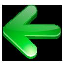 Arrow, Green, Left Icon