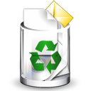 Bin, Full, Recycle, Trashcan Icon