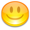 Button, Face, Good, Happy, Smile, Yellow Icon