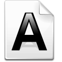 a, File, Font, Letter Icon