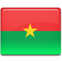 Burkina, Faso, Flag Icon