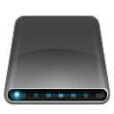 Black, Disk, Drive, External, Modem Icon