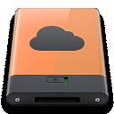 b, Idisk, Orange Icon