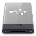 Grey, Usb, w Icon