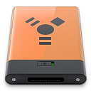 b, Firewire, Orange Icon