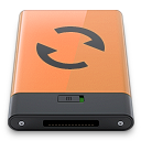 b, Orange, Sync Icon