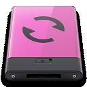 b, Pink, Sync Icon