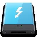Blue, Thunderbolt, w Icon