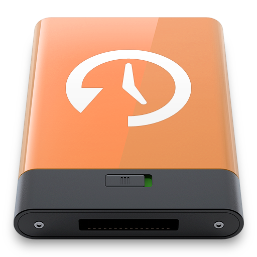 Machine, Orange, Time, w Icon