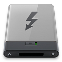 b, Grey, Thunderbolt Icon