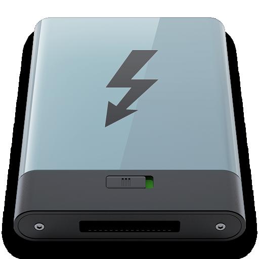b, Graphite, Thunderbolt Icon