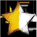 Half, Left, Star Icon