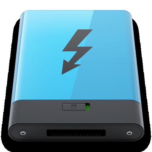 b, Blue, Thunderbolt Icon