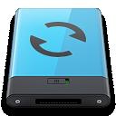 b, Blue, Sync Icon