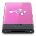 Pink, Usb, w Icon