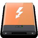 Orange, Thunderbolt, w Icon