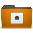 Folder, Orange, Remote Icon