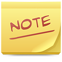 It, Note, Post, Postit Icon