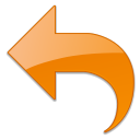 Arrow, Left, Orange, Undo Icon