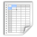 Document, Office, Paper, Spreadsheet Icon