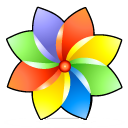 Browser, Color, Flower Icon