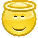 Angel, Face, Happy, Smiley Icon