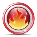Fire, Hot, Nero Icon