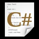 Csharp, Text, x Icon