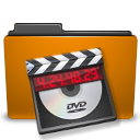 Folder, Orange, Video Icon