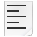 List, Type, White Icon