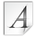 a, Application, Font, Letter, Type Icon