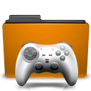 Folder, Games, Orange Icon