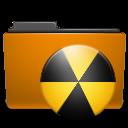 Burn, Folder, Orange Icon