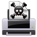 Crossbones, Dead, Error, Poison, Print, Printer, Skull Icon