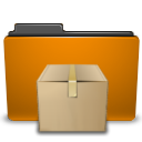 Folder, Orange, Tar Icon