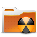 Burn, Folder, Radioactive Icon