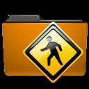 Folder, Orange, Public Icon