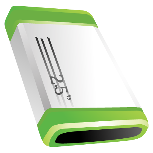 Disk, Green Icon