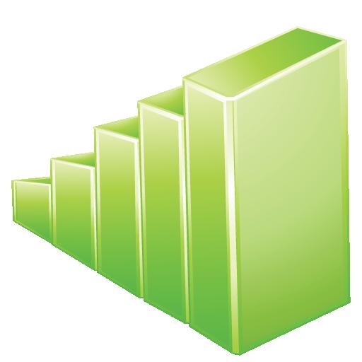 Graph, Green Icon