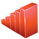Graph, Red Icon