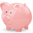 Bank, Cash, Money, Pig, Piggy, Savings Icon
