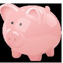 Bank, Cash, Money, Pig, Piggy, Savings Icon